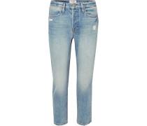 Pegged Hoch Sitzende Distressed-jeans