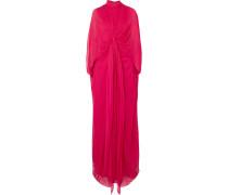 Drapierte Robe aus Seidenchiffon