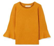 Pullover aus einer Gerippten Woll-alpakamischung