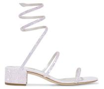 Cleo Kristallverzierte Sandalen aus Satin und Leder