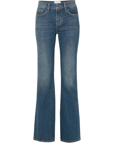 The Jarvis Hoch Sitzende Schlagjeans in Distressed-optik
