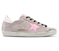 Superstar Sneakers aus Veloursleder