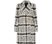 Doppelreihiger Mantel aus Tweed