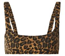 Colombier Bikini-oberteil mit Leopardenprint