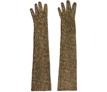 Handschuhe aus Metallic-jacquard