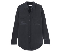 Slim Signature Hemd aus Vorgewaschener Seide