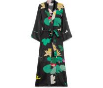 Midi-wickelkleid aus Crêpe De Chine aus Seide