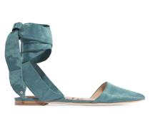 Brandie Flache Schuhe aus Dupionseide