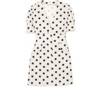 Laura Minikleid aus Crêpe mit Polka-dots