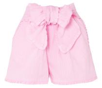 Gestreifte Shorts aus einer Baumwollmischung