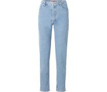 El Hoch Sitzende Jeans mit Geradem Bein