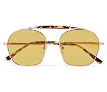 Samui Silberfarbene Sonnenbrille