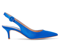 Anna 55 Slingback-pumps aus Satin