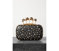 Spider Four-ring Clutch aus Leder