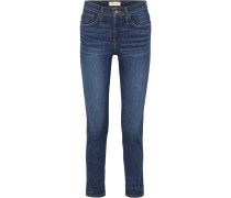 The Slim Hoch Sitzende Distressed-jeans