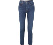 Remy Hoch Sitzende Jeans mit Geradem Bein