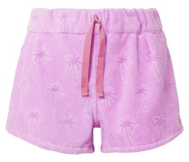 Shorts aus Beflocktem Baumwollfrottee