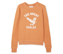 The College Bedrucktes Sweatshirt aus Baumwoll-jersey in Distressed-optik