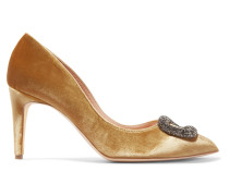 Nada Pumps aus Metallic-samt