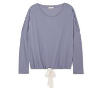 Heather Pyjama-oberteil aus Jersey aus einer Baumwollmischung