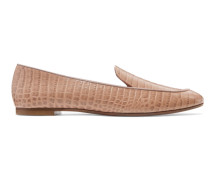 Purist Loafers aus Leder mit Krokodileffekt