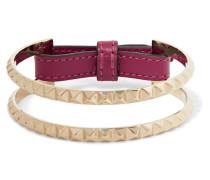 Lovestud Armband Aus Leder Mit Goldfarbenen Details -