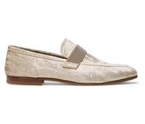 Verzierte Loafers aus Samt
