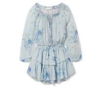 Popover Gestuftes Minikleid aus Seiden-georgette