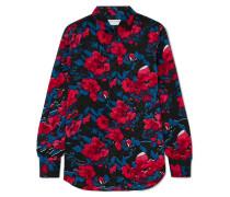 Hemd aus Seiden-jacquard mit Blumenprint