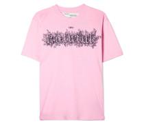 Besticktes T-shirt aus Bedrucktem Baumwoll-jersey