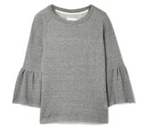 The Ruffle Sweatshirt aus Frottee aus einer Baumwollmischung