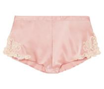 Maison Shorts aus Satin aus einer Seidenmischung