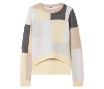 Pullover aus einer Gebürsteten Kaschmir-seidenmischung in Colour-block-optik