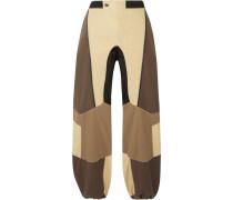 The Hera Jogginghose aus Twill aus einer Baumwollmischung in Patchwork-optik