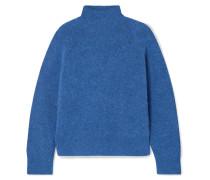 Pullover aus Rippstrick mit Stehkragen