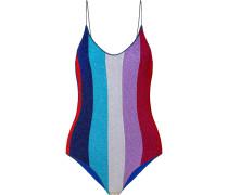 Lumière Gestreifter Badeanzug aus Stretch-lurex®