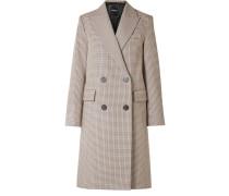 Genesis Doppelreihiger Mantel aus einer Baumwoll-wollmischung