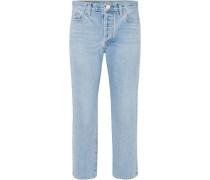 Low Slung Verkürzte, Halbhohe Jeans