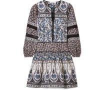 Gemma Bedrucktes Minikleid aus Baumwollpopeline