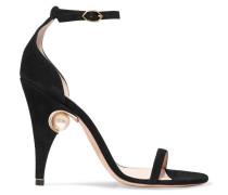 Penelope Verzierte Sandalen aus Veloursleder