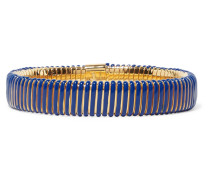 Goldfarbenes Armband aus Harz