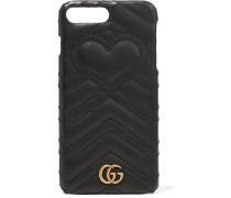 Gg Marmont Iphone 7 Plus-hülle aus Gestepptem Leder