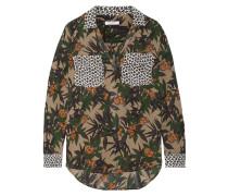 Ansley Bedrucktes Hemd aus Seiden-georgette