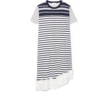 Gestreiftes Kleid aus Baumwoll-jersey