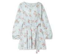 Noelle Minikleid aus Baumwollkrepon