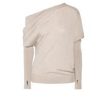Asymmetrischer Pullover aus einer Kaschmir-seidenmischung