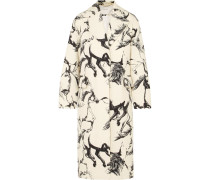 Oversized-mantel aus Bedruckter Wolle