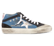 Superstar Sneakers aus Denim, Leder und Veloursleder