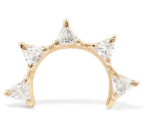 Sepal 05 Ohrring aus  mit Diamanten