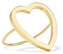 Open Heart Ring aus 18 Karat